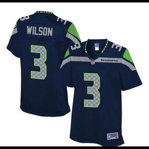 Seahawks Team Color Jersey • Wilson • XL